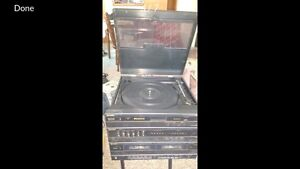 Sharp Record Player Duo Tape Deck w/Separate CD Player & Speaker
