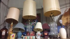 $5 LAMP SALE   All electric table lamps $5 each