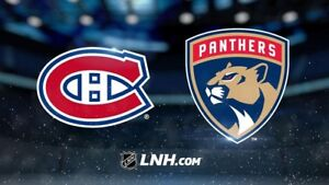 Billets Blancs-BB, Canadiens de Montréal VS Panthers de Floride