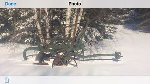 Old trailing plow