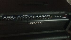 Guitar half stack head+cabinet 4x12 crate like new