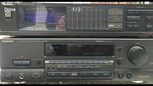 Technics Audio receiver/amplifier and  CD/DVD/tape players
