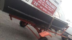 12' foot Aluminum Fishing Boat $400.