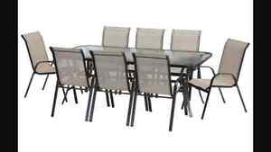 Palma 9-piece Outdoor Setting (Table & 8 x Chairs) Caboolture Caboolture Area Preview