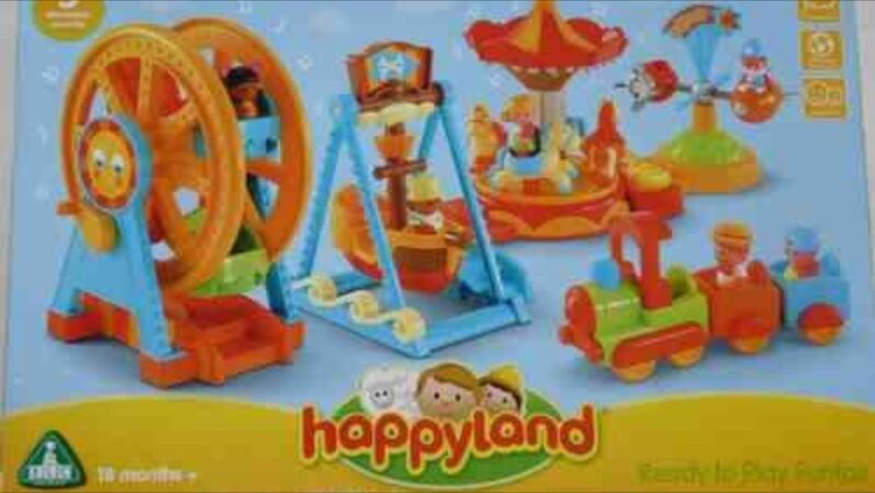 """Happyland Fairround, discontinued & reintroduced in a different colour resulting in lots of """"older style"""" cheap on ebay"""