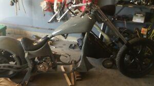 Custom softtail chopper