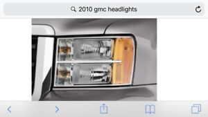 Stock gmc headlights and more