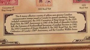 Framed Canadian stamp collection