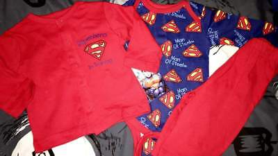 DC COMICS SUPERMAN 3 PIECE BABY OUTFIT SIZE 0/3 3/6 6/9 MONTHS NEW! - Baby Superman Outfit