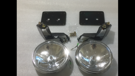 FORD XA GT GS FALCON COUPE SEDAN DRIVING LIGHTS AND BRACKETS