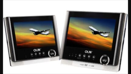 Olin Dual Screen Car DVD Player w Built in Battery / Media Player  Cabramatta Fairfield Area Preview