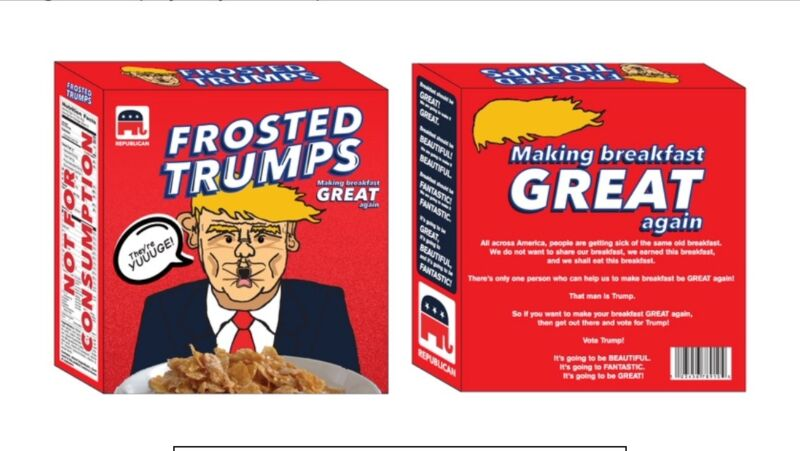 DONALD TRUMP MEMORABILIA!!!  LIMITED EDITION FUNNY CEREAL BOXES!  INVESTMENT!