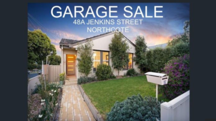 Garage sale SATURDAY 17th March 48A Jenkins street NORTHCOTE