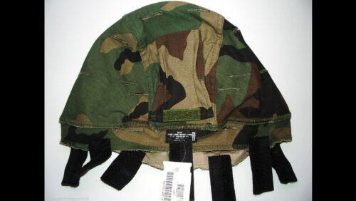 MSA Woodland/Desert Camo Reversible ACH LWH Kevlar Combat Helmet Cover  MED/LRG