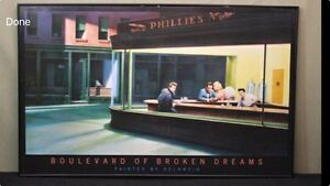 Glass Framed 'Boulevard of Broken Dreams'