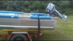 Boat / Trailer / and Motor 3600$