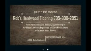 Professional hardwood flooring removal and installation
