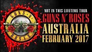 GUNS 'N' ROSES TICKETS x2 BRISBANE Coolangatta Gold Coast South Preview