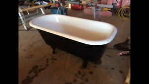 Antique claw foot bath tub