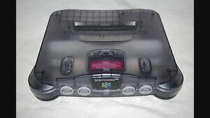 Nintendo 64 n 64 smoke grey recherché