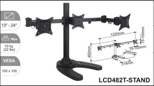3 monitor stand adjustable- brand new Goodna Ipswich City Preview