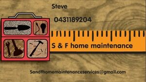 S & F Home Maintenance Services/handyman/lawn and gardens Craigmore Playford Area Preview