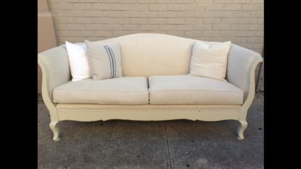 French Style Upholstered Lounge Alberton Port Adelaide Area Preview