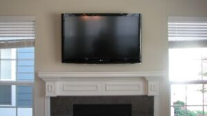 "LG 37"" tv with wallmount"