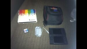 Nintendo DS, Mario carrying case, sonic rush, charger & more