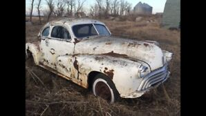 1946 olds coupe torpedo back project