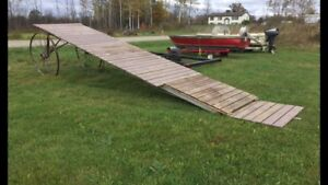 Portable dock with steel frame in sections
