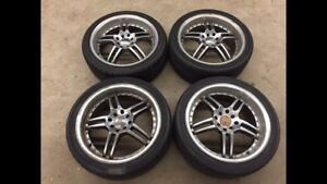 """5x sets 160 17"""" 4x100 & 4x114.3 rims and tires ($150-$300)"""