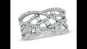Crisscross Diamond Fashion Ring