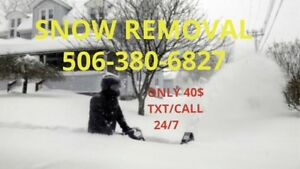 Snow removal on call 24/7 365. Or by contract