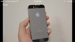 Iphone 5s perfect condition black 16gb virgin bell