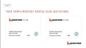 2 x Qantas Club Lounge Passes valid until end of June 2018 Crows Nest North Sydney Area Preview
