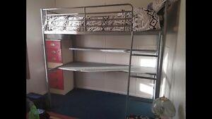 Study desk & single loft bed Cardiff Lake Macquarie Area Preview