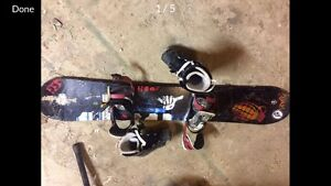 Selling Salomón Board with Bindings and Snowboard Boots (42EU)
