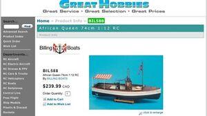 African Queen RC boat