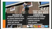 All year Commercial window washing in/out