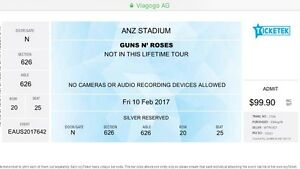2 x Guns n Roses Tickets North Rothbury Cessnock Area Preview