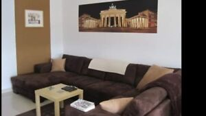 Large sectional couch with pull out
