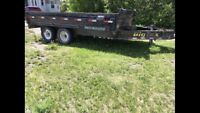 Dump trailer for rent or hire wabamun lake area