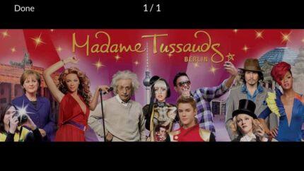 Double Adult Pass Madame Tassauds Sydney