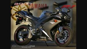 2007 Yamaha R1- 1000CC Black color