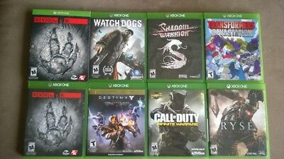 XBOX ONE GAMES LOT OF 8 (Read Description)