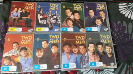 Two and a half men dvds Season 1-8