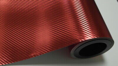 1,5 m² Chrom Rot Carbon Folie Wrapping Car Auto Folien Blasenfrei Luftkanäle