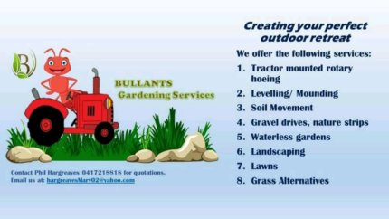 Landscaping and Rotary hoeing