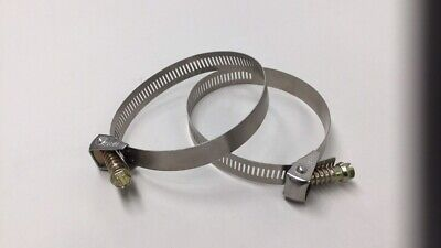 Ideal Size 48 90mm Stainless Steel Quick Release Worm Drive Clamp Pack Of 2